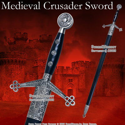 "43 "" Medieval Classic Scottish Claymore Arming Sword with Scabbard"
