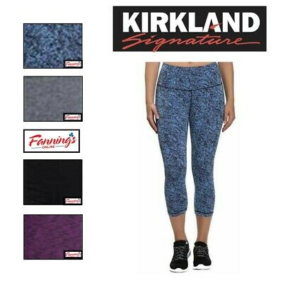 NEW! Kirkland Signature Ladies' Active Crop Tight, VARIETY Size & Color!