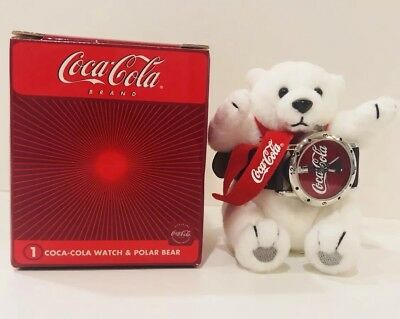 NEW 2002 Coca-Cola Polar Bear and Watch with Box and Paperwork