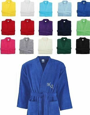 Embroidered Personalised Bath Robe Dressing Gown Customised Unisex Robe Gift