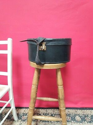 Antique/vintage leather hat box