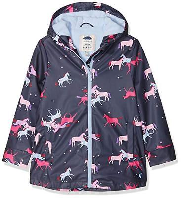 New! Joules Waterproof Girls Rubber Rain Dance Navy Magical Unicorn 3 AND  4 yrs