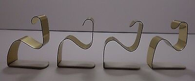 The Original Mantle Clip set of 4 Gold Color Metal Pre Owned