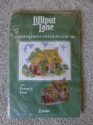 Unused Anchor Lilliput Lane Counted Cross Stitch Picture Kit Ll01 Penny's Post