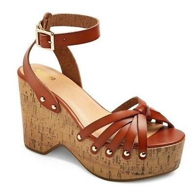 284f82c3298 Women s Mossimo Supply Co. Erie Cognac Platform Wedge Sandals