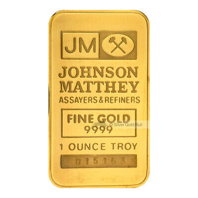 1 oz Johnson Matthey TD Bank Gold Bar