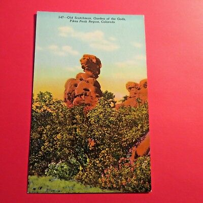 Garden of the Gods CO Old Scotchman Vintage old Postcard PC75