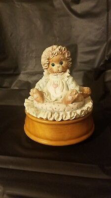 Calico Kitten Music Box Just Thinking About You 1992 P. Hillman Enesco 620742