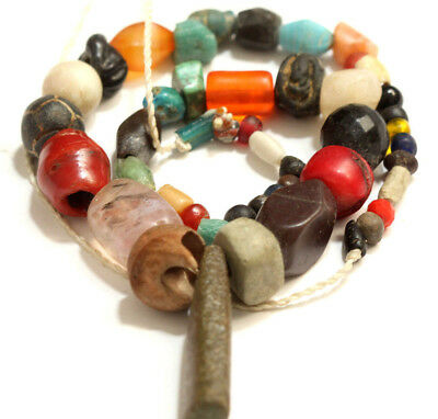 Ancient Mix Beads Strand, Collectable Beads, WEAR THE HISTORY OF THE WORLD!!