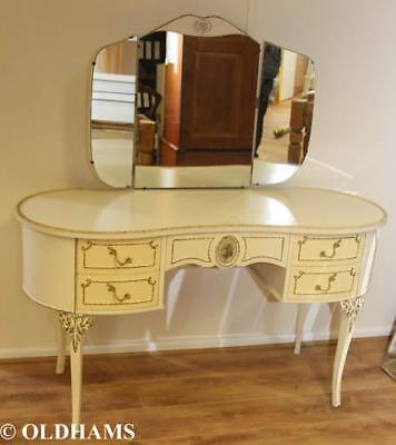 Vintage Mid Century French Shabby Chic Style Dressing Table