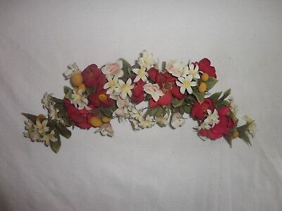 Home Interiors   26'' Burg & Cream Flowers Swag ''  Wall Accents  Gorgeous