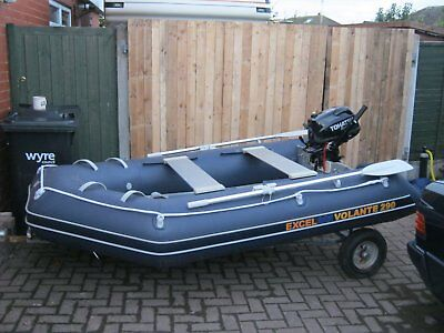 Exel Volante 290 Rib Tohatsu Outboard Used Once