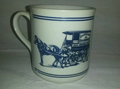 Entenmann's Bakery Donuts Coffee Mug Cup with horse drawn carriage