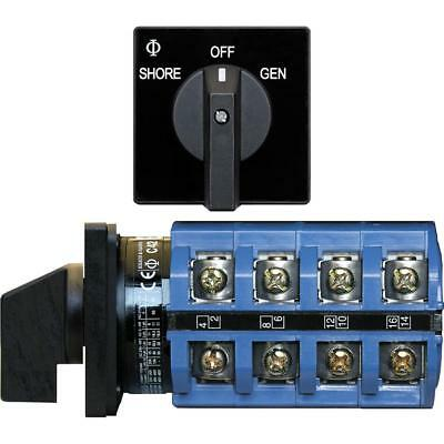Blue Sea 9093 Switch AC 120 + 120/240VAC  OFF+2 Positions