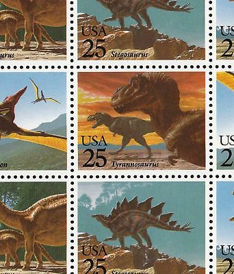 2422-25   25c   DINOSAURS NH FULL SHEET OF 40     SPECIAL SALE AT FACE