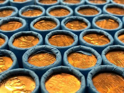 Bu Lincoln Wheat Pennies Blue Rolls Old Coins Collection Bank Money Us Cents $!