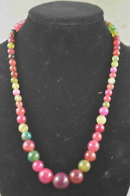 Collectable Chinese Style Jade Carve Natural texture Bead Happiness Neckalce