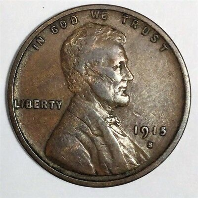 1915-S Lincoln Wheat Cent Penny Beautiful Coin Rare Date