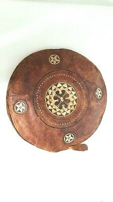 Cushion antique leather Africa early 20th