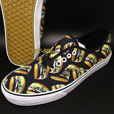 6015311b4f4 Vans Authentic Late Night Black Hamburgers MENS SKATE SHOES   burger  S89116.212