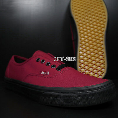 New Vans Authentic Black Sole Jester Red Men s Skate Shoes  s89159.084 8a6d4698c