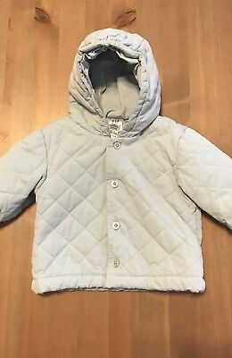 Unisex Boy Girl Baby Blue Gap Quilted Jacket Newborn