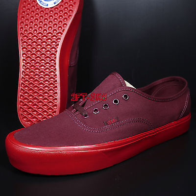 Vans Authentic Lite Port Royale Red Men s 13 Skate Shoes old Skool  s89145 d29e5c798