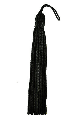 "Black 4"" Chainette Tassels Midnight's Embrace [Set of 10]"