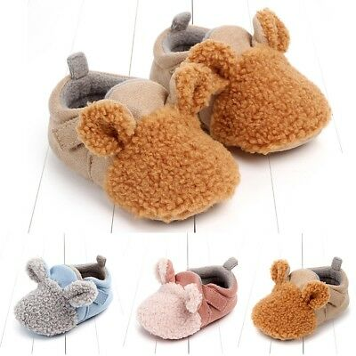 Toddler Baby Shoes Girls Boys Autumn Winter Warm First Walker Soft Sole Shoes