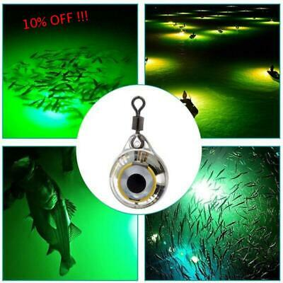 Fish Deep  Drop Underwater LED Lure Light Flash Lamp Fishing Squid Bass Spoon