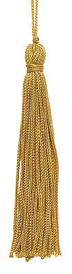 """Antique Gold 4"""" Chainette Tassels Gold [Set of 10]"""