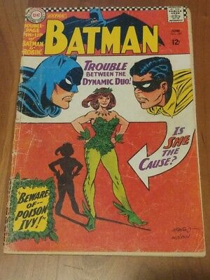 Batman 181 1St Appearance Of Poison Ivy With Center Fold Low Grade Copy