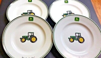 "JOHN DEERE LARGE 11 1/4"" DINNER PLATES Set of 4"