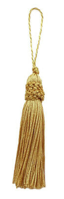 "Antique Gold 3"" Chainette Tassels Gold [Set of 10]"