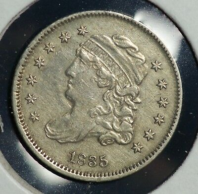 1835 H10C Capped Bust Half Dime 5C Coin
