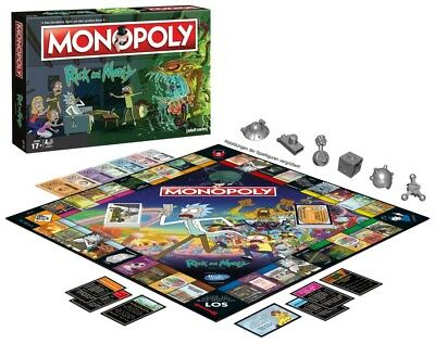 Rick and Morty Monopoly Board Game - Collectible Metal Playing Pieces!