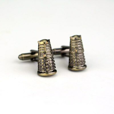 Doctor Who Dalek Exterminate Bad Wolf Cufflinks Suit Gift Bag