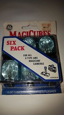 Vintage GE Magicubes Magic Cubes Camera Flash Pack of 3 New 24 Flashes Each