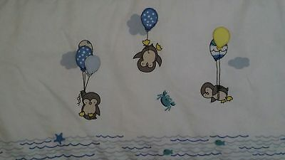 Baby Bed Cot Bumper Penguin, Crab, Fish, Balloon theme