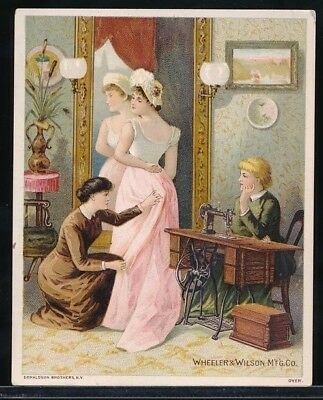 WHEELER & WILSON'S FAMILY SEWING MACHINES Victorian Trade Card