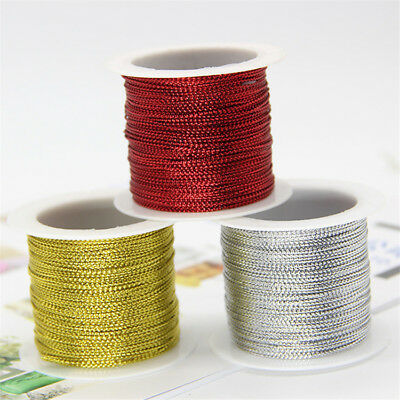20 Meters Cord Thread Rope String Braid Gold Wire Wedding Gifts DIY Decoration