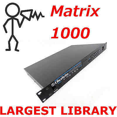 Oberheim Matrix 1000 10,000+ Patch Sound Program SysEx Largest Library D0wnload
