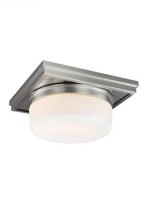 Feiss Lighting FM514SN Mandie Flush Mount Light, Satin Nickel