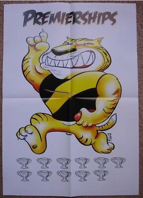 10 X AFL Richmond Tigers 2017 Premiership Posters