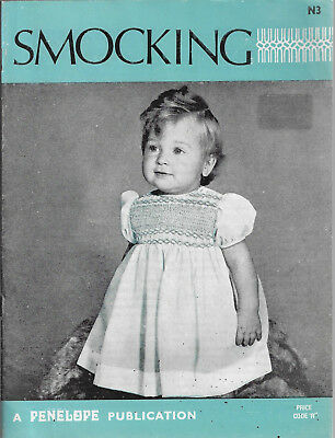 Penelope Smocking Instruction Book N3 vintage pattern sewing embroidery