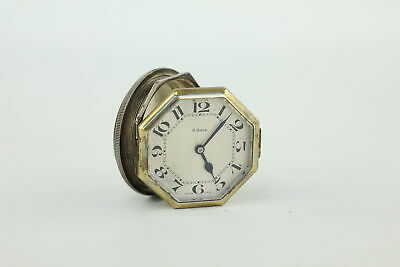 Vintage Swiss Made Hand-Wind 8 Day Automobile Clock UNTESTED