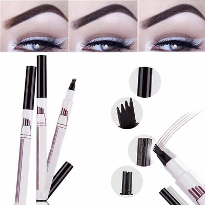 Makeup Microblading Eyebrow Tattoo Pen Fork Tip Sketch Eye Brow Pencil Ink Pen
