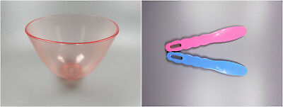 Dental Flexible Mixing Bowls large + Spatula For Impression Plaster Material