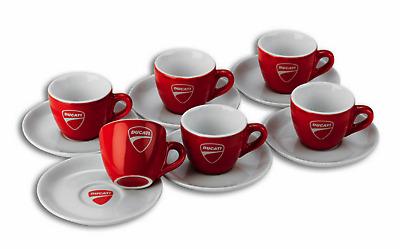 Ducati Coffee Cup Set-Set of 6 Expresso Cups