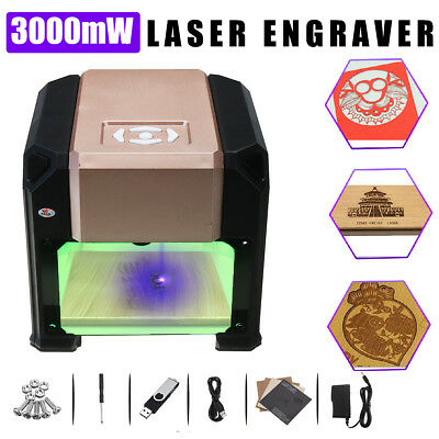 3000mW Laser Engraver Printer Cutter Carver DIY Logo Maker Engraving Machine DIY